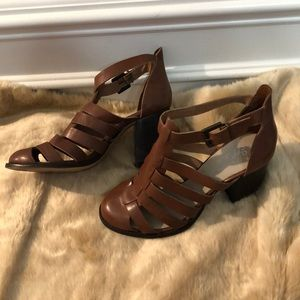 Seychelles Shoes - Seychelles Brown Good Leather Size 10 Heels 👠